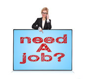 Plasma panel with need a job Royalty Free Stock Images