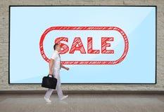 Plasma panel with sale Stock Photography