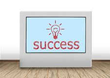 Plasma panel with success Stock Photography