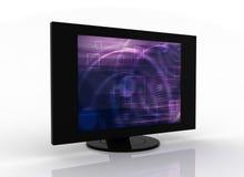 Plasma piano dell'affissione a cristalli liquidi della TV Immagini Stock Libere da Diritti