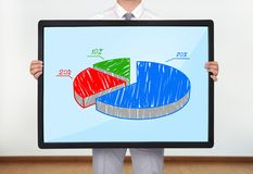 Plasma with pie chart Stock Photography