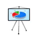 Plasma with pie chart Royalty Free Stock Photos
