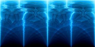 Plasma rougeoyant bleu et backrgoun futuriste de panorama de technologie illustration de vecteur