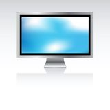 Plasma screen with background Stock Photos
