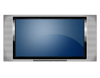 Plasma screen tv. An illistration of a wide screen plasma television Stock Photo