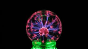 Plasma sphere in the darkness stock video footage