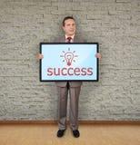 Plasma with success symbol Stock Image