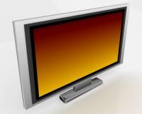 Plasma Tv 003. Plasma Tv with orange and black gradient on screen 003 Stock Image