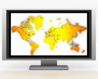 Plasma Tv 007. Plasma Tv with orange and black gradient on screen 007 Royalty Free Stock Photos