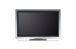 Plasma tv. Isolated on white Royalty Free Stock Images