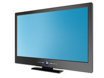 Plasma TV. 3d rendering plasma TV isolated on white Royalty Free Stock Image
