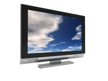 Plasma tv Royalty Free Stock Photo