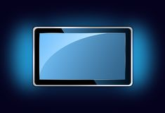Plasma tv ambilight Stock Image