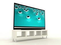 Plasma TV with beautiful tirkis royalty free illustration