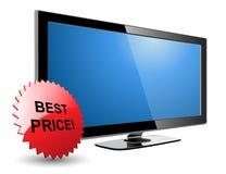 Plasma TV dell'affissione a cristalli liquidi Immagine Stock Libera da Diritti