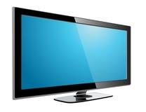 Plasma TV dell'affissione a cristalli liquidi Fotografia Stock