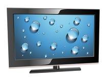 Plasma TV dell'affissione a cristalli liquidi Fotografie Stock