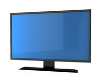 Plasma tv with empry screen Stock Photo