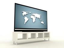Plasma TV render isolated Royalty Free Stock Image