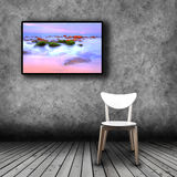 Plasma TV on the wall of the room with empty chair. Plasma TV on the wall of the room with wooden floor and empty chair Royalty Free Stock Photo