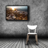 Plasma TV on the wall of the room with empty chair. Plasma TV on the wall of the room with wooden floor and empty chair Stock Images
