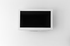 Plasma TV on the wall of the room Stock Images