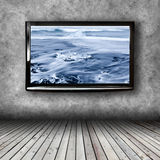 Plasma TV on the wall of the room Royalty Free Stock Photography