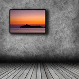 Plasma TV on the wall of the room Stock Photos