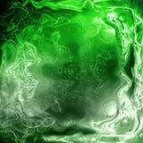 Plasma verde de la matriz 3D Imagen de archivo