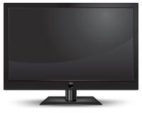 Plasma on white. Plasma lcd tv with remote control on white background,  illustration Royalty Free Stock Image