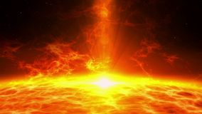 Plasmaangelegenheitseruption über Sonnenoberfläche lizenzfreie abbildung