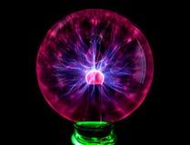 Plasmaball mit bunten Flecken, abstrakter Hintergrund Lizenzfreie Stockbilder