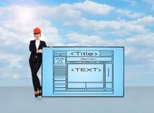 Plasmabildschirm mit Website Lizenzfreies Stockbild