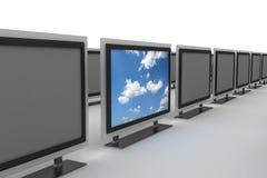 Plasmafernsehapparat, der heraus 2 steht vektor abbildung
