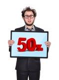 Plasmapaneel met percenten stock foto