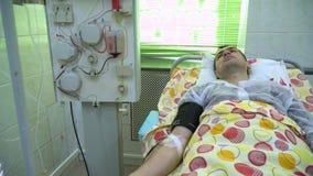 Plasmapheresis Czy?ci? pacjent krew przez przyrz?du Proces usuwa? krwiono?nego osocze od zbiory wideo