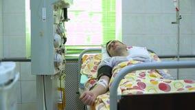 Plasmapheresis Nettoyage du sang du patient par le dispositif Le processus d'enlever le plasma sanguin du banque de vidéos