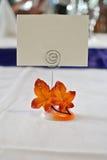 Plasowanie karta dla gościa przy przyjęciem Zdjęcie Royalty Free