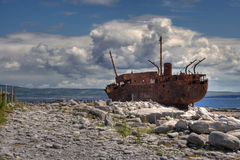 Plassey Wreck. The Plassey wreck at Inisheer Island in Ireland royalty free stock photography