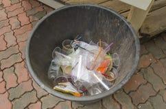 Plast-avfalls Arkivfoto
