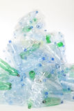 Plast- avskräde för vattenflaska Fotografering för Bildbyråer