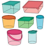 Plast- behållare Royaltyfri Foto