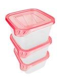 Plast- behållare för mat Arkivbilder