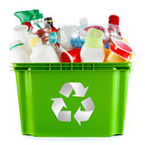 Plast- behållare och flaskor Arkivfoto