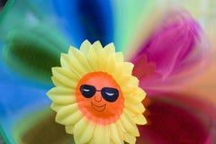 Plast- blomma Arkivbild