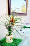 Plast- blommor. Royaltyfri Fotografi