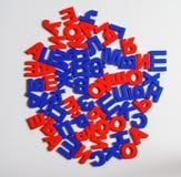 Plast- bokstäver av det ryska alfabetet Arkivfoton