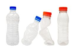 Plast- buteljerar Arkivbild