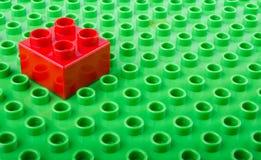 Plast- byggnadskvarter fotografering för bildbyråer