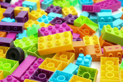 Plast- byggnadskvarter Arkivbild